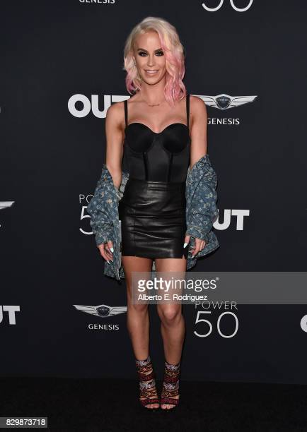 Model Gigi Gorgeous attends OUT Magazine's Inaugural Power 50 Gala Awards Presentation at Goya Studios on August 10 2017 in Los Angeles California