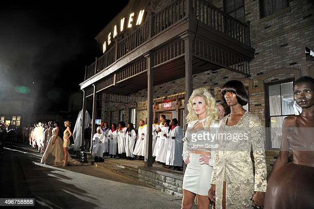 Model Gigi Gorgeous poses at the August Getty Atelier SS 2016 'The Thread Of Man' presentation with David LaChapelle at Universal Studios Hollywood...