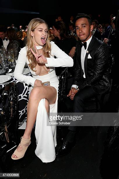 Model Gigi Hadid and Formule 1 pilote Lewis Hamilton attend amfAR's 22nd Cinema Against AIDS Gala Presented By Bold Films And Harry Winston at Hotel...