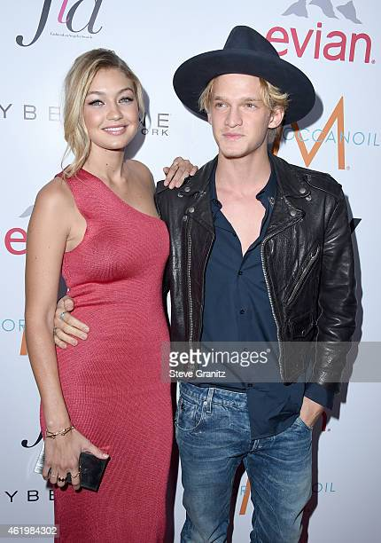 Model Gigi Hadid and singer Cody Simpson attend The Daily Front Row's 1st Annual Fashion Los Angeles Awards at Sunset Tower Hotel on January 22, 2015...