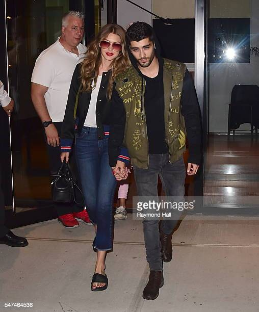 Model Gigi Hadid and Singer Zayn Malik are seen on July 14 2016 in New York City