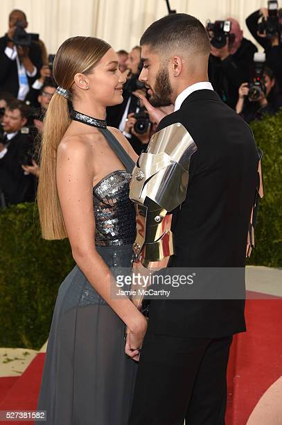 Model Gigi Hadid and singer Zayn Malik attend the Manus x Machina Fashion In An Age Of Technology Costume Institute Gala at Metropolitan Museum of...