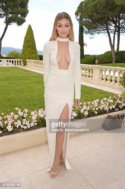 Model Gigi Hadid arrives at amfAR's 22nd Cinema Against AIDS Gala, Presented By Bold Films And Harry Winston at Hotel du Cap-Eden-Roc on May 21, 2015...