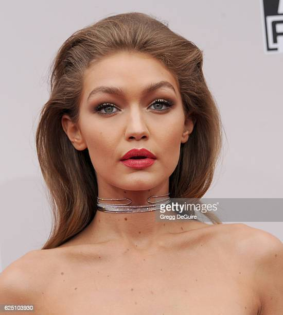 Model Gigi Hadid arrives at the 2016 American Music Awards at Microsoft Theater on November 20 2016 in Los Angeles California