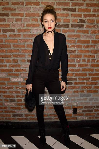 Model Gigi Hadid attends IMG Models Celebrates The Sports Illustrated Swimsuit issue at Vandal on February 15 2016 in New York City