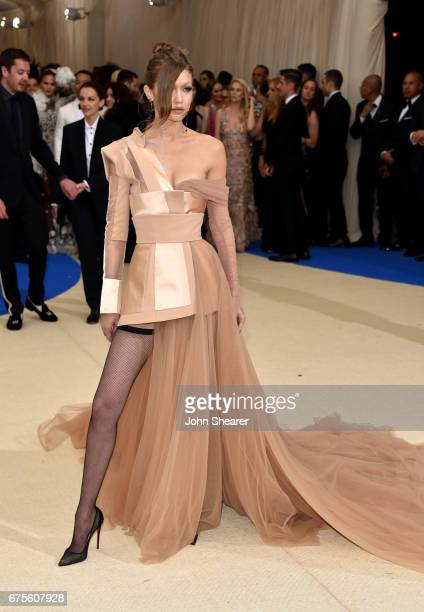 Model Gigi Hadid attends 'Rei Kawakubo/Comme des Garcons Art Of The InBetween' Costume Institute Gala at Metropolitan Museum of Art on May 1 2017 in...