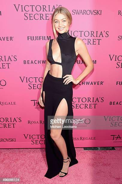 Model Gigi Hadid attends the 2015 Victoria's Secret Fashion After Party at TAO Downtown on November 10 2015 in New York City