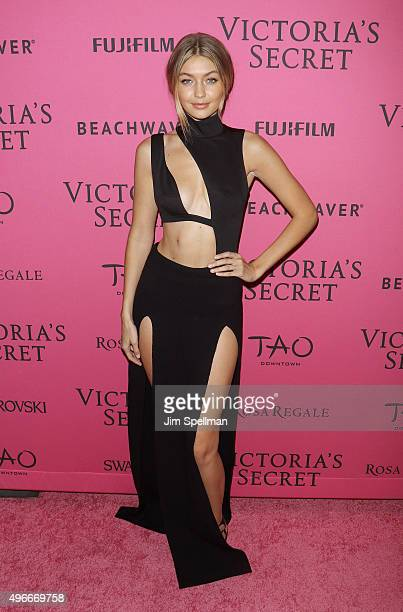 Model Gigi Hadid attends the 2015 Victoria's Secret Fashion Show after party at TAO Downtown on November 10 2015 in New York City