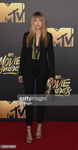 Model Gigi Hadid attends the 2016 MTV Movie Awards at Warner Bros Studios on April 9 2016 in Burbank California