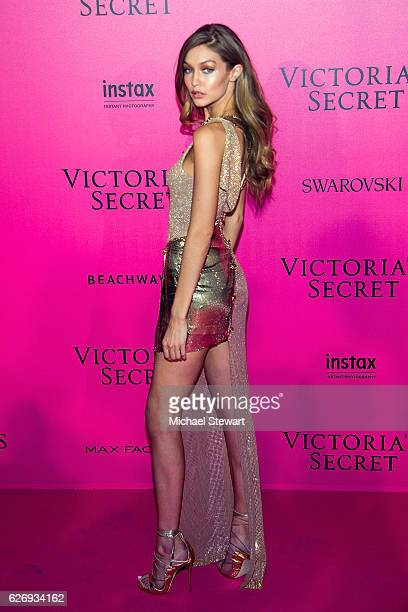 Model Gigi Hadid attends the 2016 Victoria's Secret Fashion Show after party at Le Grand Palais on November 30 2016 in Paris France