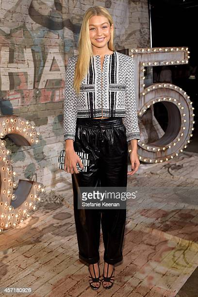 Model Gigi Hadid attends the CHANEL Dinner Celebrating N°5 THE FILM by Baz Luhrmann on October 13, 2014 in New York City.