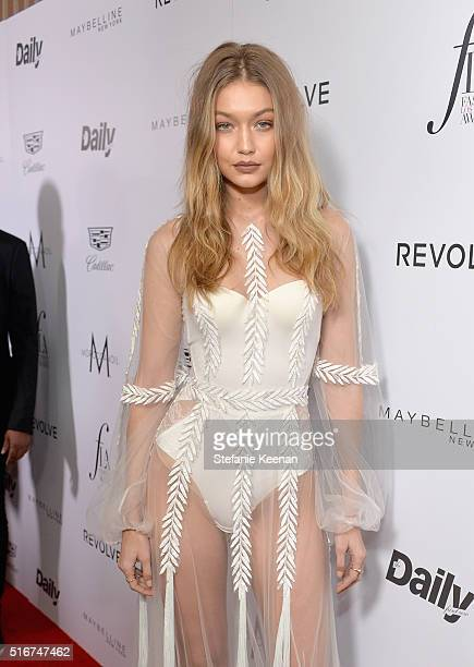 Model Gigi Hadid attends The Daily Front Row Fashion Los Angeles Awards 2016 at Sunset Tower Hotel on March 20 2016 in West Hollywood California