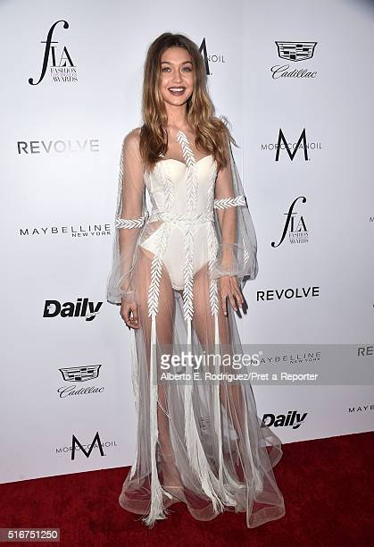 Model Gigi Hadid attends the Daily Front Row 'Fashion Los Angeles Awards' at Sunset Tower Hotel on March 20 2016 in West Hollywood California