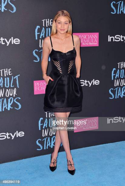 Model Gigi Hadid attends 'The Fault In Our Stars' premiere at Ziegfeld Theater on June 2 2014 in New York City
