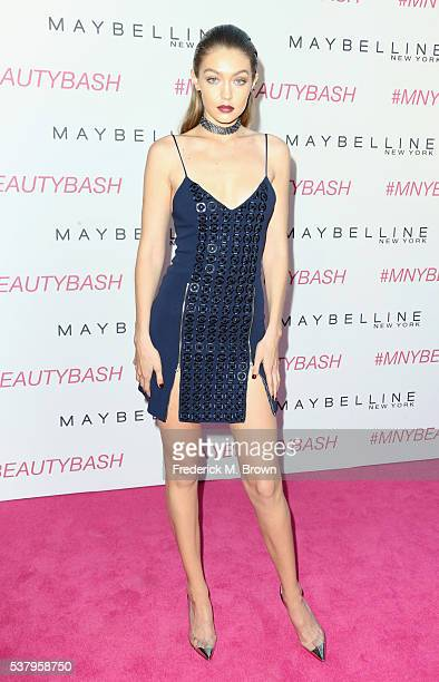 Model Gigi Hadid attends the Maybelline New York Beauty Bash at The Line Hotel on June 3 2016 in Los Angeles California