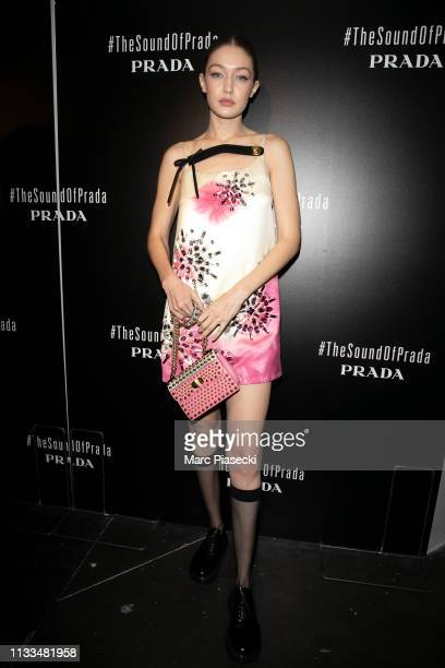 Model Gigi Hadid attends the Prada Party as part of the Paris Fashion Week Womenswear Fall/Winter 2019/2020 on March 03 2019 in Paris France
