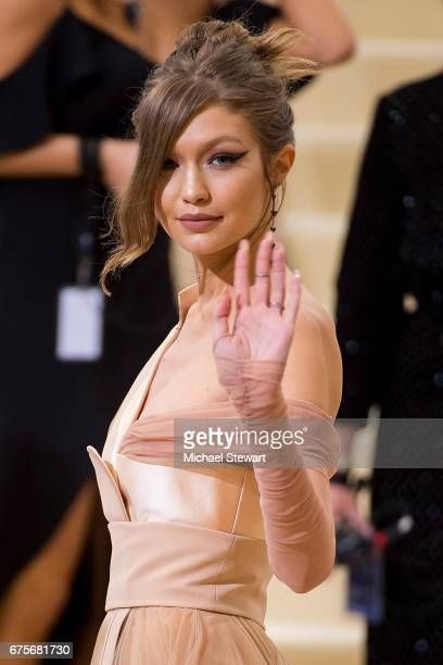 Model Gigi Hadid attends the 'Rei Kawakubo/Comme des Garcons Art Of The InBetween' Costume Institute Gala at Metropolitan Museum of Art on May 1 2017...