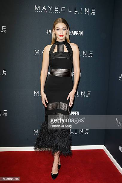 Model Gigi Hadid attends the 'The Power Of Colors MAYBELLINE New York MakeUp Runway' show during the MercedesBenz Fashion Week Berlin Autumn/Winter...