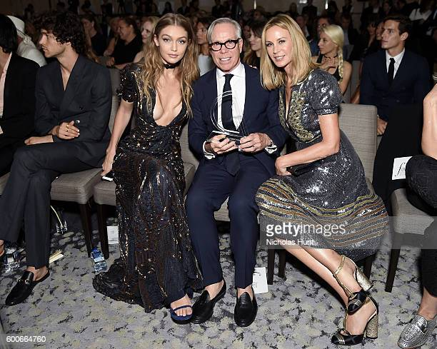 Model Gigi Hadid designer Tommy Hilfiger and Dee Ocleppo Hilfiger attends the The Daily Front Row's 4th Annual Fashion Media Awards at Park Hyatt New...