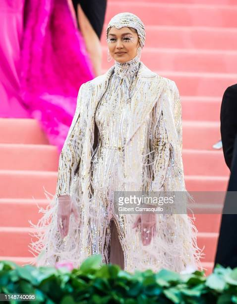 Model Gigi Hadid is seen arriving to the 2019 Met Gala Celebrating Camp: Notes on Fashion at The Metropolitan Museum of Art on May 6, 2019 in New...