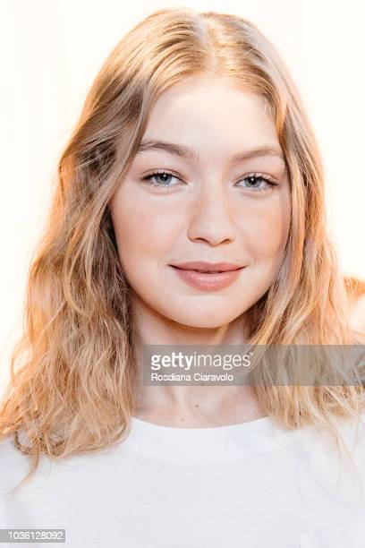 Model Gigi Hadid is seen backstage ahead of the Alberta Ferretti show during Milan Fashion Week Spring/Summer 2019 on September 19 2018 in Milan Italy