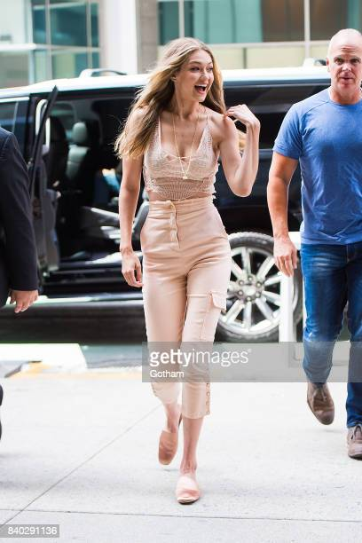 Model Gigi Hadid is seen going to fittings for the 2017 Victoria's Secret Fashion Show in Midtown on August 28 2017 in New York City
