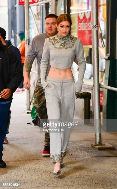 Model Gigi Hadid is seen on April 12 2017 in New York City