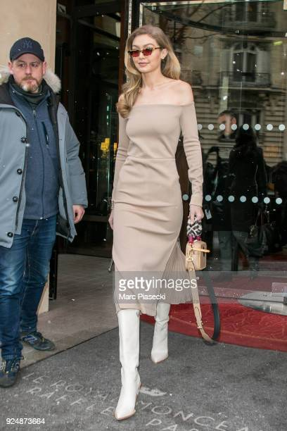 Model Gigi Hadid is seen on February 27 2018 in Paris France