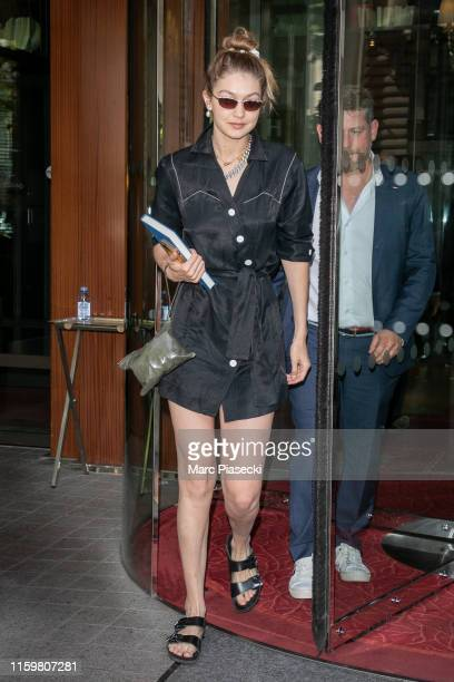 Model Gigi Hadid is seen on July 03 2019 in Paris France
