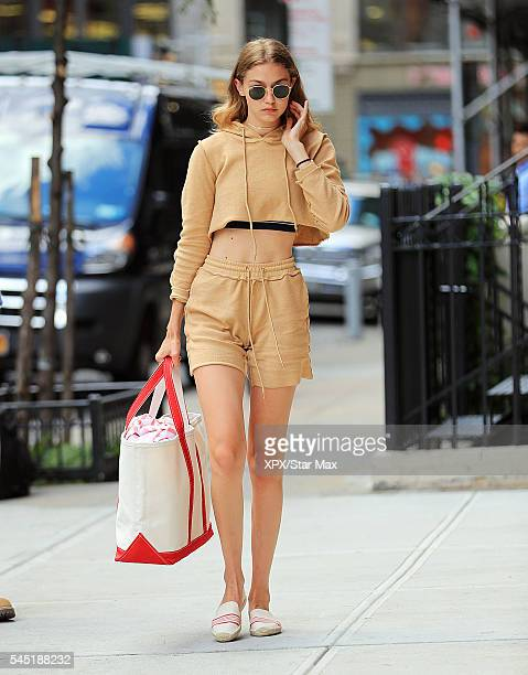 Model Gigi Hadid is seen on July 5 2016 in New York City