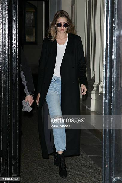 Model Gigi Hadid is seen on March 2 2016 in Paris France