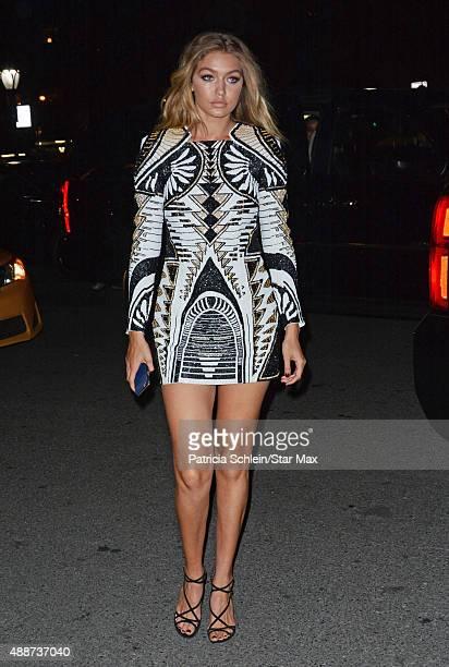 Model Gigi Hadid is seen on September 16 2015 in New York City