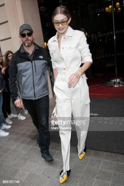 Model Gigi Hadid is seen on September 28 2017 in Paris France