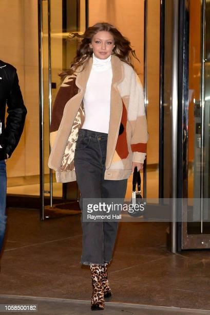 Model Gigi Hadid is seen walking in midtown on November 6 2018 in New York City