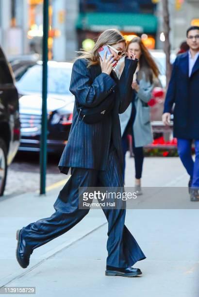 Model Gigi Hadid is seen walking in Soho on April 24 2019 in New York City