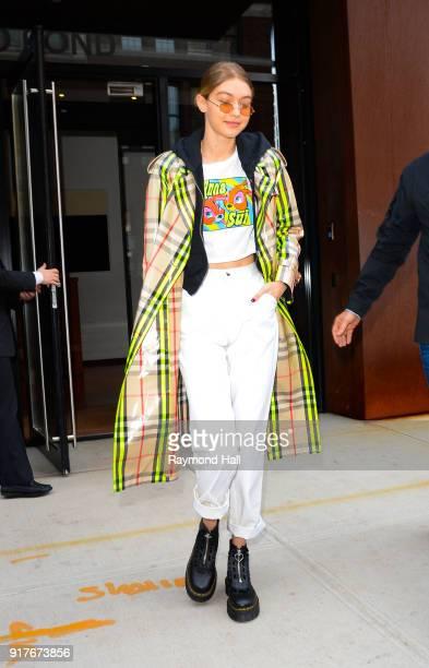 Model Gigi Hadid is seen walking in Soho on February 12 2018 in New York City