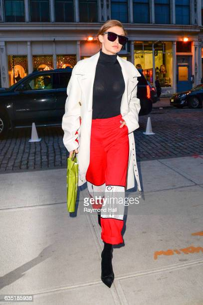 Model Gigi Hadid is seen walking in Soho on February 13 2017 in New York City