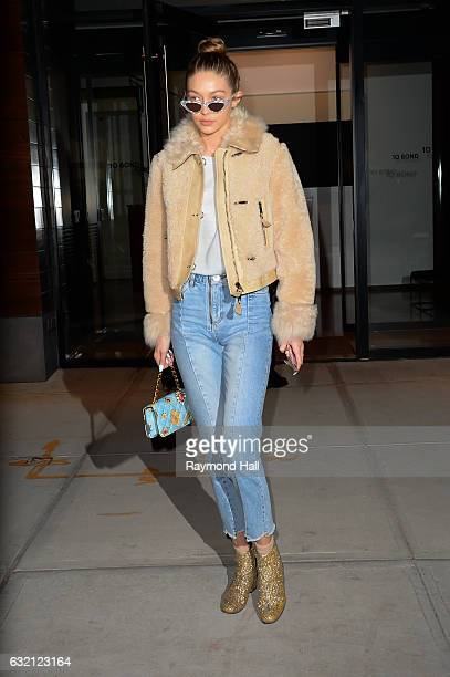Model Gigi Hadid is seen walking in Soho on January 19 2017 in New York City