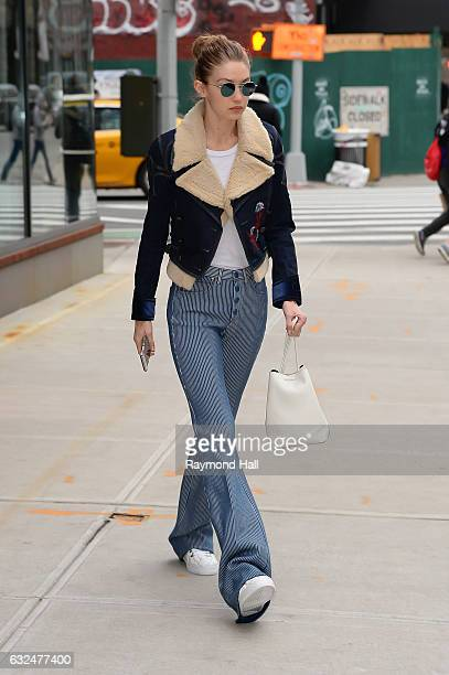 Model Gigi Hadid is seen walking in Soho on January 23 2017 in New York City