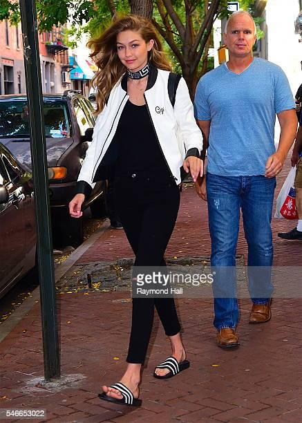 Model Gigi Hadid is seen walking in Soho on July 12 2016 in New York City