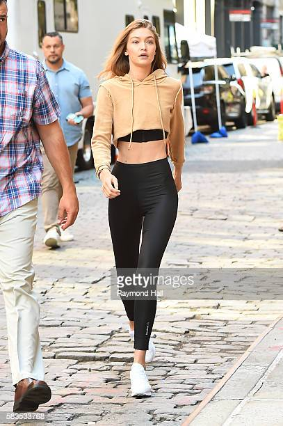 Model Gigi Hadid is seen walking in Soho on July 26 2016 in New York City