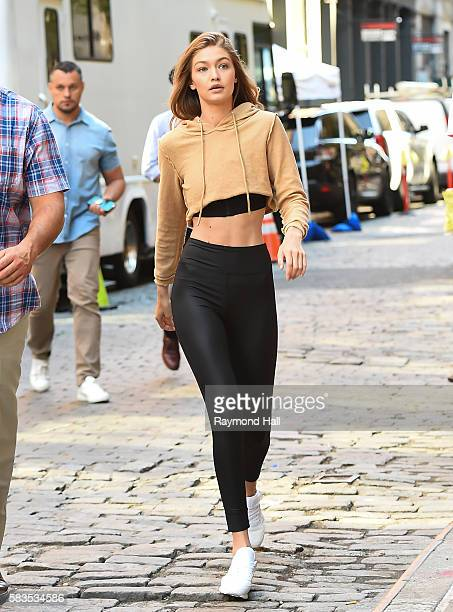 Model Gigi Hadid is seen walking in Soho on July 26 2016 in New York City