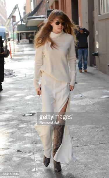 Model Gigi Hadid is seen walking in Soho on March 16 2017 in New York City