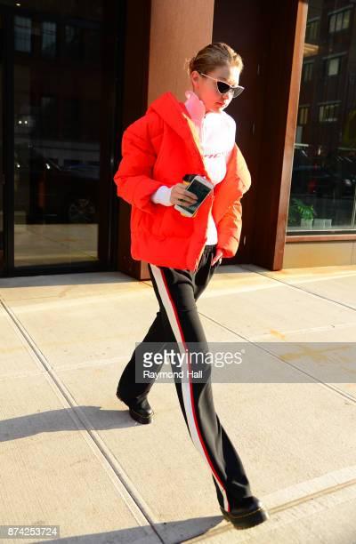 Model GigI Hadid is seen walking in Soho on November 14 2017 in New York City