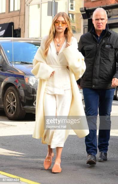 Model Gigi Hadid is seen walking in Soho on November 15 2017 in New York City