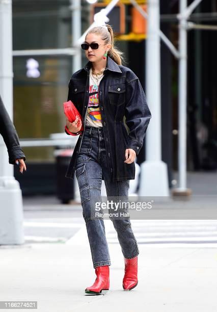 Model Gigi Hadid is seen walking in SoHo on September 6 2019 in New York City