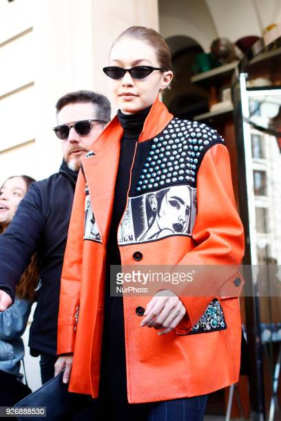 Model Gigi Hadid leaves the Café Flore in Paris France on March 3 2018