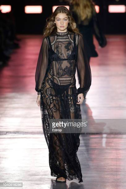 Model Gigi Hadid walks the runway at the Alberta Ferretti show during Milan Fashion Week Spring/Summer 2019 on September 19 2018 in Milan Italy