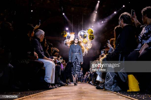 Model Gigi Hadid walks the runway at the Michael Kors fashion show during New York Fashion Week on February 13 2019 in New York City