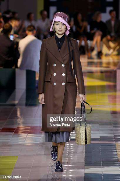 Model Gigi Hadid walks the runway at the Prada show during the Milan Fashion Week Spring/Summer 2020 on September 18, 2019 in Milan, Italy.